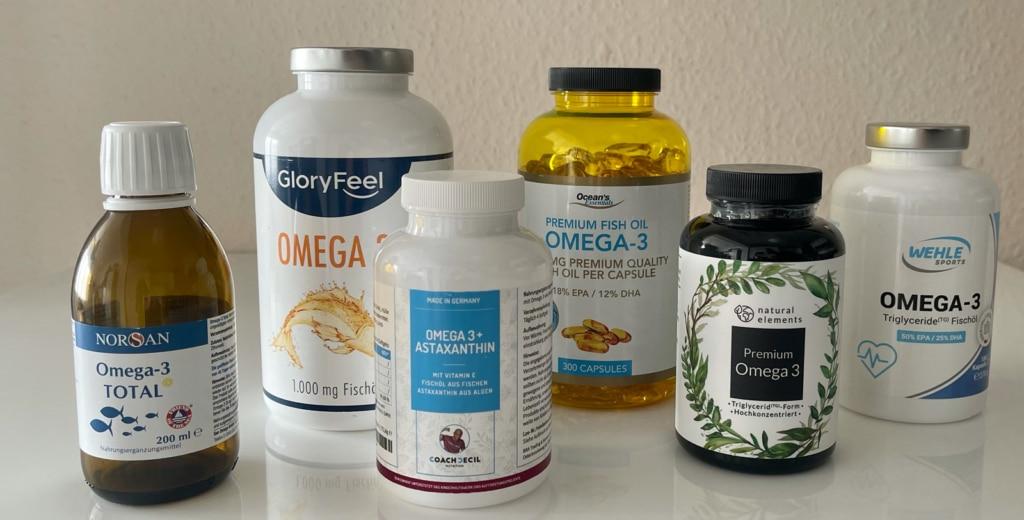 Fettsäuren Präparate Test von Kapseln & Ölen